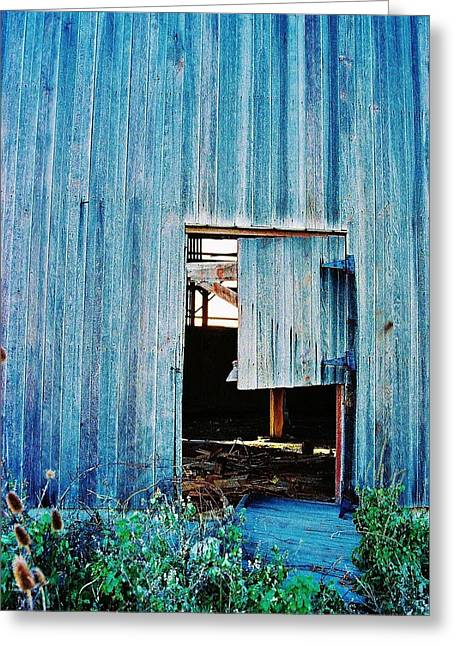 Greeting Card featuring the photograph Barn Door... Monroe Co. Michigan by Daniel Thompson