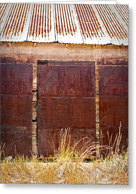 Barn Door Picture Greeting Card by Julie Magers Soulen