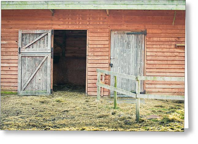Barn Door Greeting Card by Tom Gowanlock