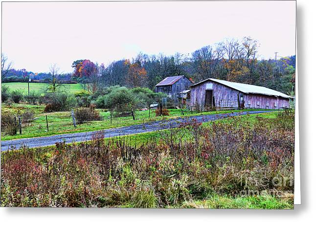 Barn - End Of The Road Greeting Card by Paul Ward