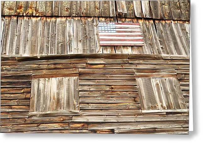 Barn Flag Greeting Card
