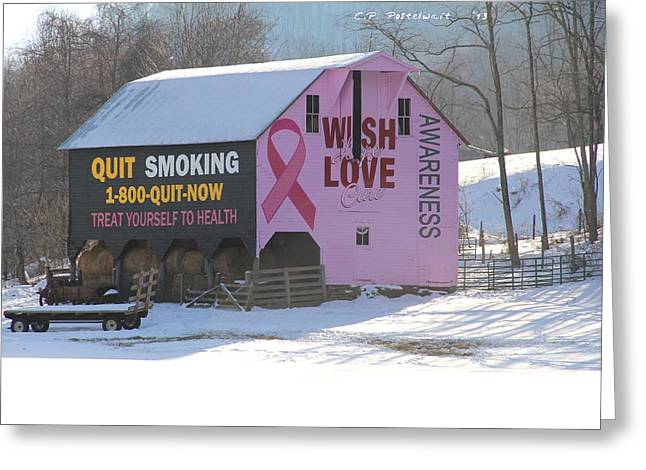 Barn For The Cure Greeting Card by Carolyn Postelwait