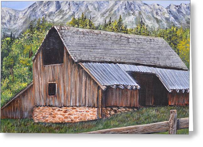Barn From Yesterday Greeting Card