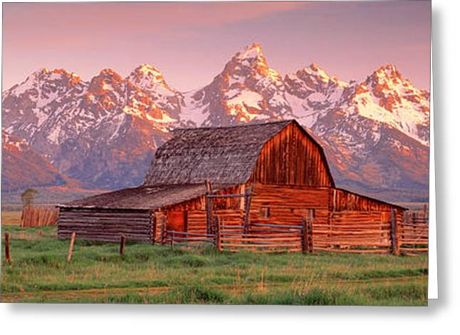 Barn Grand Teton National Park Wy Usa Greeting Card by Panoramic Images