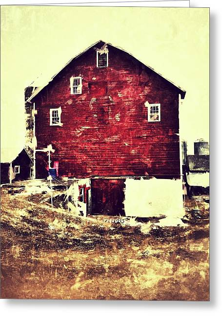 Barn Greeting Card by H James Hoff