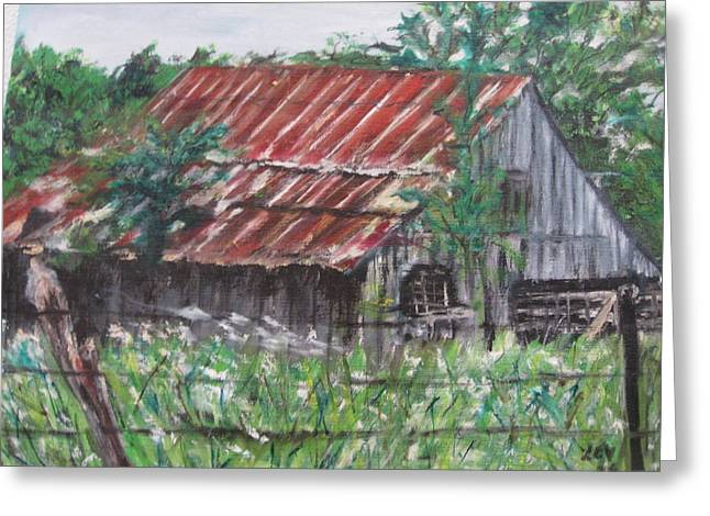 Barn In Montana Greeting Card