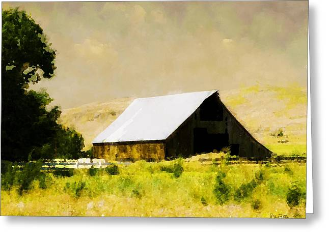 Barn In Pasture   Greeting Card
