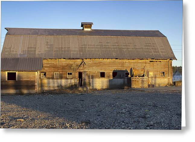 Barn In Rural Washington Greeting Card
