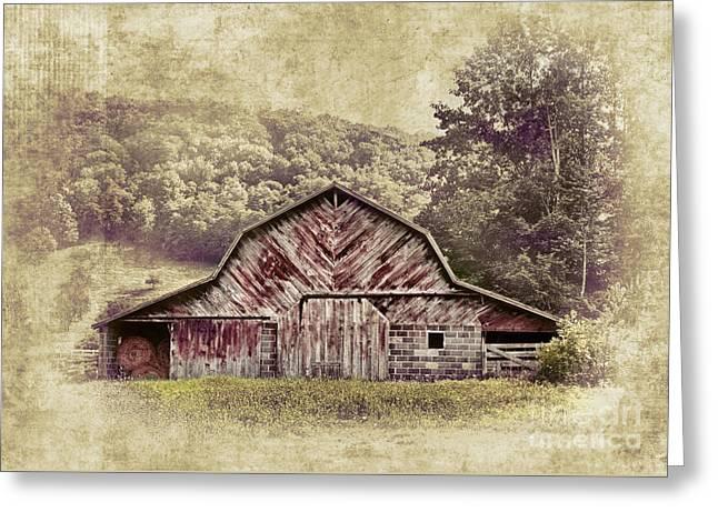 Barn In The Blue Ridge Greeting Card by Dan Carmichael
