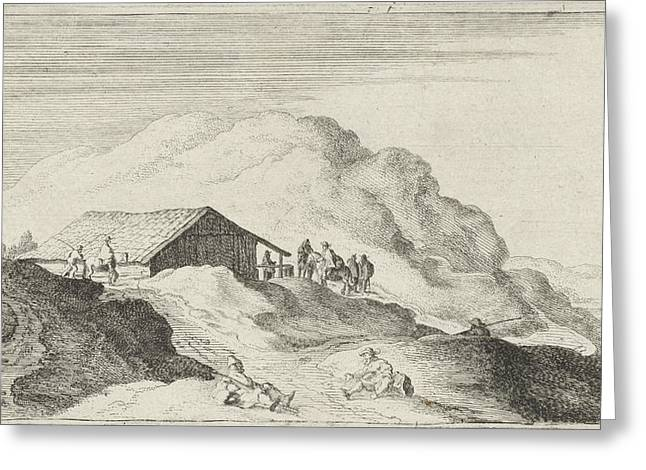 Barn In The Dunes, Gillis Van Scheyndel Greeting Card