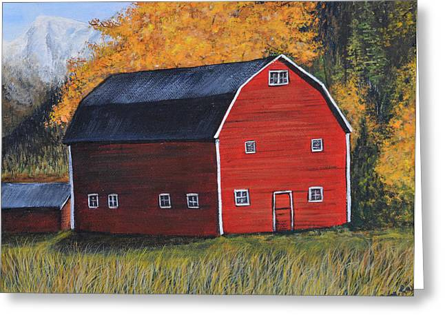 Barn In The Fall Greeting Card