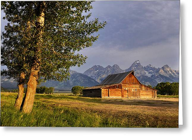 Barn In The Tetons Greeting Card by Rob Hemphill