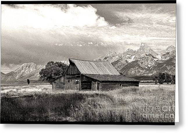 Barn In The Tetons Greeting Card by Robert Kleppin