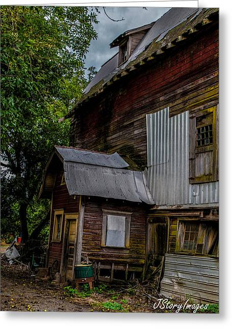 Barn Greeting Card by Jimmy Story