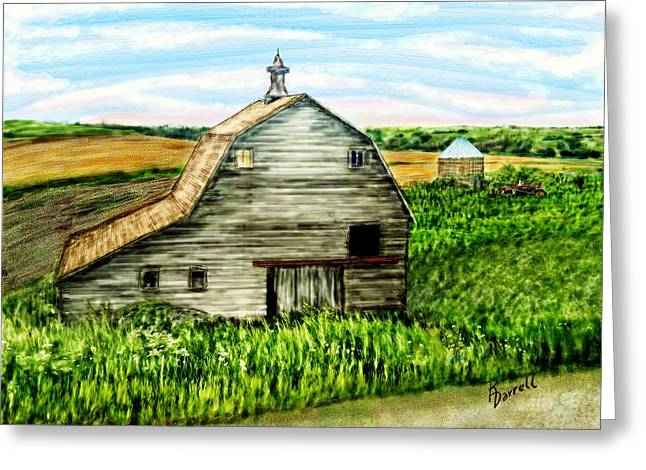 Barn Near Stanton Nebraska Greeting Card
