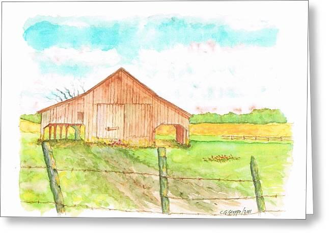 Barn - New Mexico Greeting Card by Carlos G Groppa