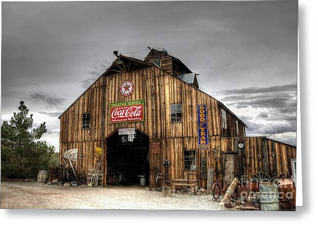 Barn Of Antiques Greeting Card by Eddie Yerkish