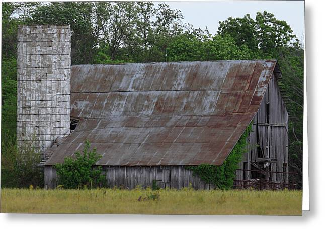 Barn Of The Past Greeting Card by Deb Henman