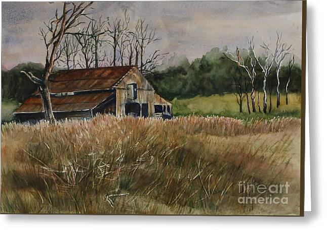 Barn Off The Road Greeting Card
