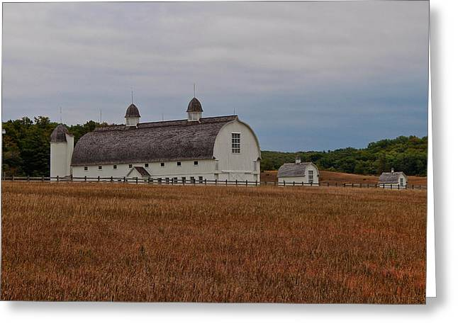 Barn On A Windy Day Greeting Card