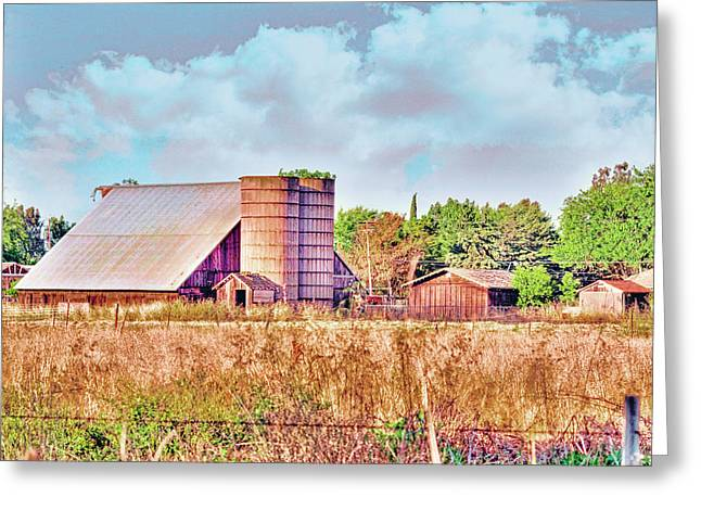 Barn On Interstate 5 Ef Greeting Card