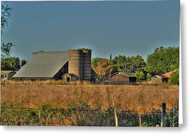 Barn On Interstate 5 Greeting Card