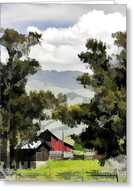 Barn On Santa Rosa Road Greeting Card