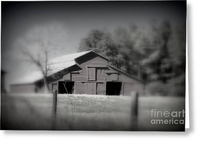 Barn On The Hill Greeting Card