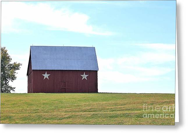 Barn On The Hill Greeting Card by Kenny Sampson
