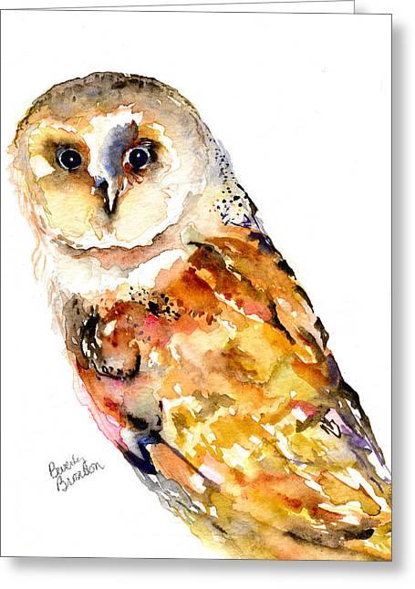 Barn Owl Greeting Card by Beverly Bronson