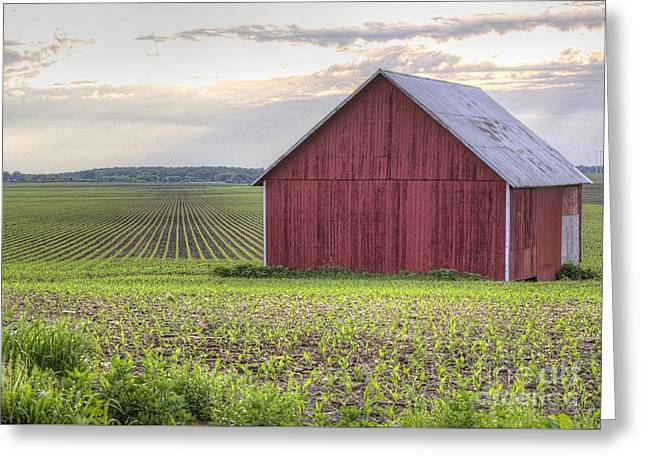 Barn Perspective Greeting Card by Kent Taylor