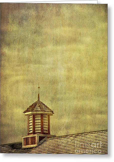 Barn Rooftop With Weather Vane Greeting Card