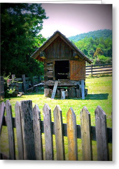 Barn Structure Greeting Card by Jo Anna Wycoff