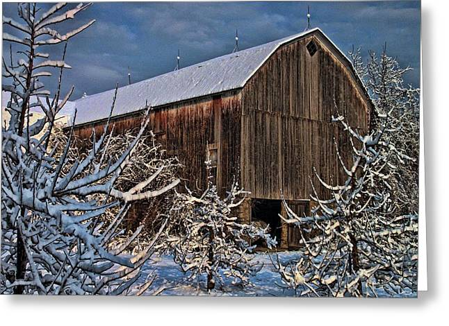 Barn Webster Ny Greeting Card