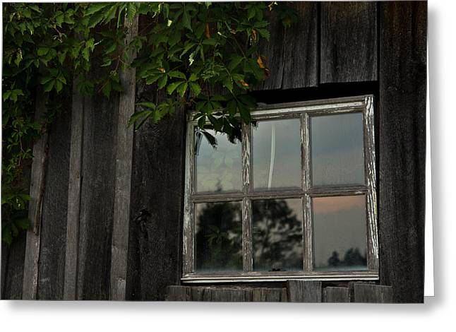 Barn Window Greeting Card by Shane Holsclaw