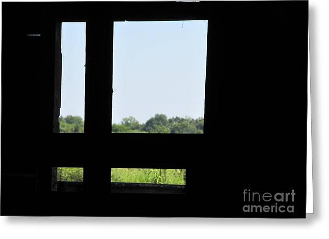 Greeting Card featuring the photograph Barn Window by Tina M Wenger