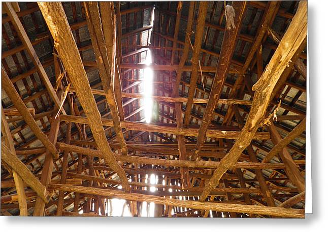 Greeting Card featuring the photograph Barn With A Skylight by Nick Kirby