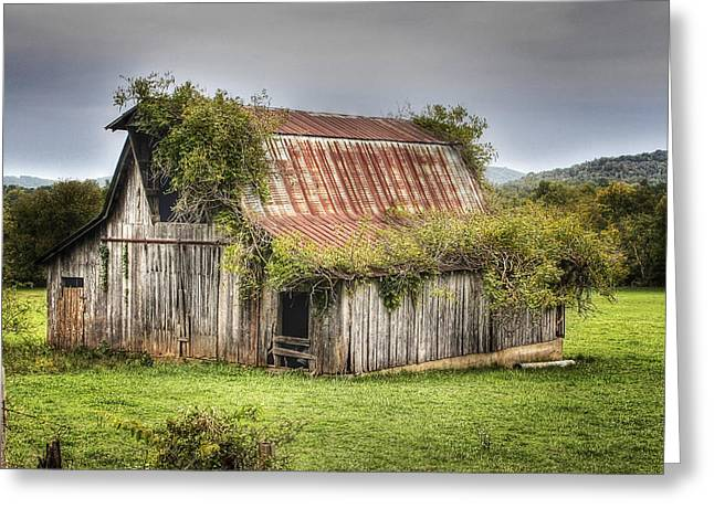 Barn With Character Greeting Card