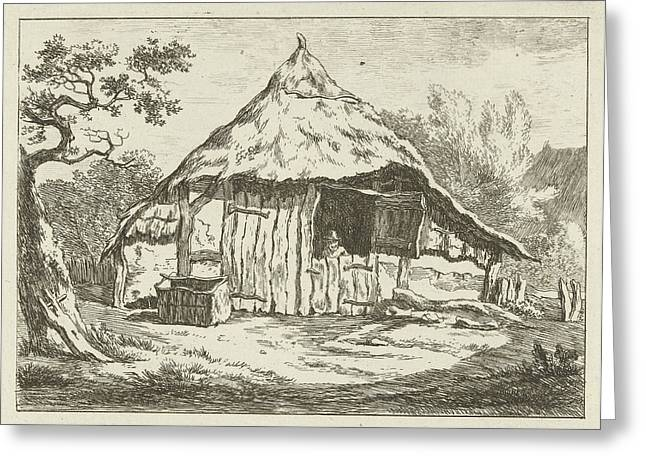 Barn With Open Upper Door, Carel Lodewijk Hansen Greeting Card by Artokoloro