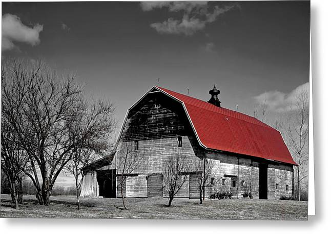 Barn With The Red Roof Greeting Card