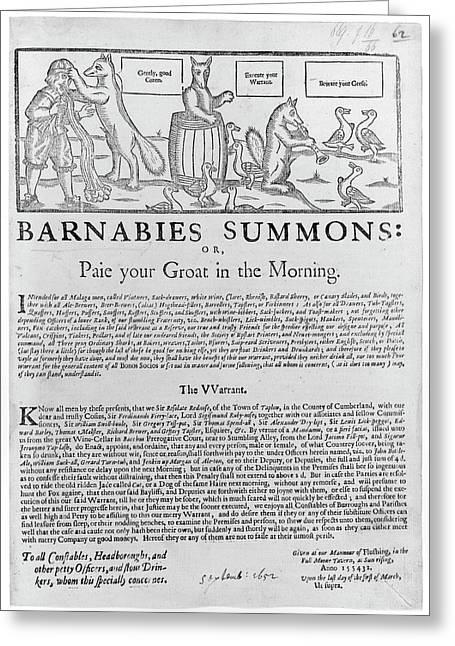 Barnabies Summons Greeting Card by British Library