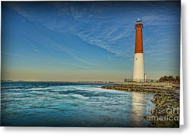 Barnegat Lighthouse II - Lbi Greeting Card by Lee Dos Santos