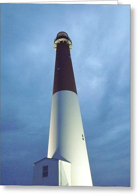 Barnegat Lighthouse Greeting Card by John Wartman