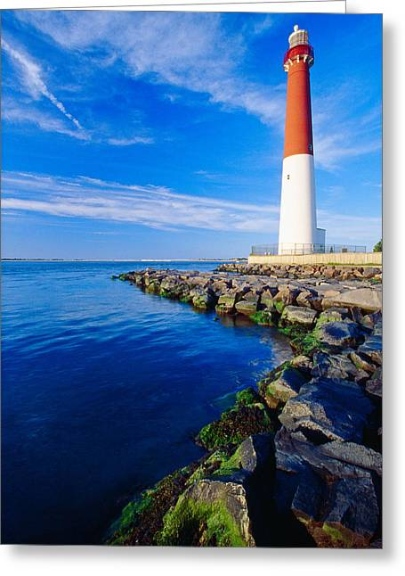 Barnegat Lighthouse Long Beach Island New Jersey Greeting Card by George Oze