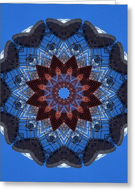 Barnegat Lighthouse Mandala Greeting Card