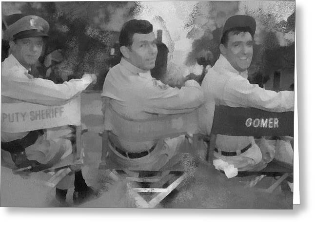 Barney Andy And Gomer Greeting Card