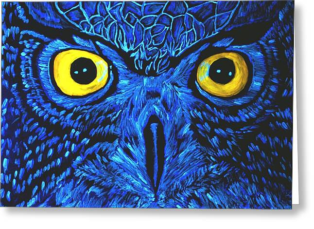 Greeting Card featuring the painting Barney Black Light View by Lisa Brandel
