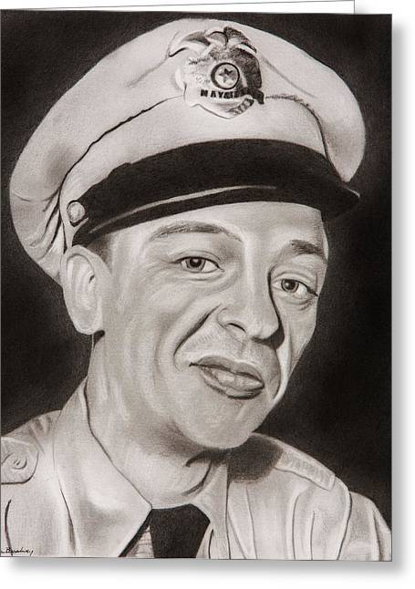 Barney Fife Greeting Card by Brian Broadway