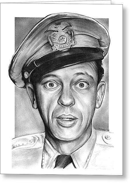 Barney Fife Greeting Card by Greg Joens