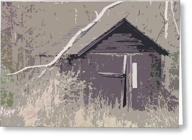Barns #4 Greeting Card by Glenn Cuddihy